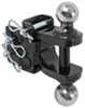 curt trailer hitch ball mount drop - none rise 6000 lbs gtw adjustable clevis and pintle hook combo with 2 inch 2-5/16 balls 6 000