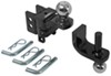 curt trailer hitch ball mount two balls drop - none rise