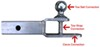 C45009 - Ball Mount Hitch,Clevis Hitch Curt Multi-Function Hitch