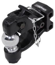 "Curt Pintle Hook with 2-5/16"" Hitch Ball - Channel Mount - 20,000 lbs"