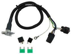 Curt T-Connector Vehicle Wiring Harness for Factory Tow Package - 6-Way Round Trailer Connector