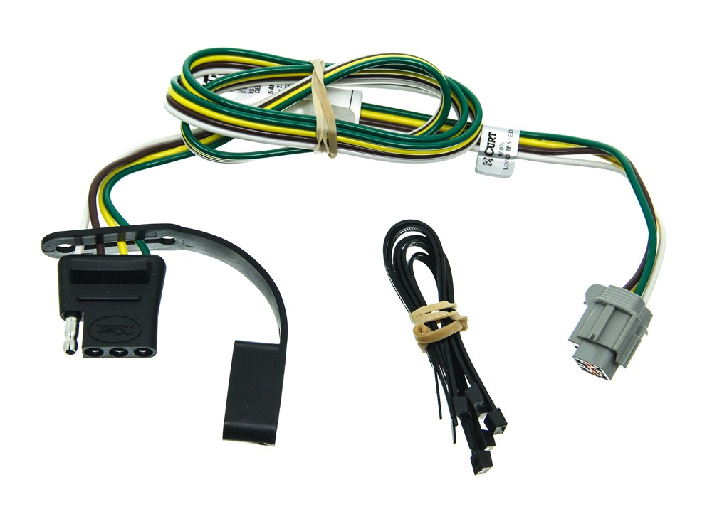 Wiring Harness With 4 Pole Flat Trailer Connector Nissan ... on towing accessories, towing wiring connectors, car towing harness, towing light harness, ford focus trailer harness, dodge ignition wire harness, towing stone guards, towing cable,