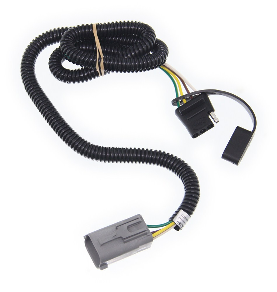 Curt T Connector Vehicle Wiring Harness For Factory Tow Package 4 Prong Trailer Plug Diagram Wire Flat Pole Custom Fit C55265