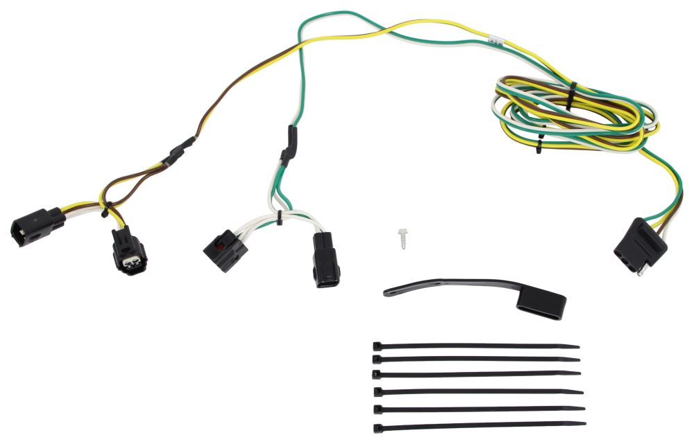 Curt T-Connector Vehicle Wiring Harness with 4-Pole Flat Trailer Connector 4 Flat C55329