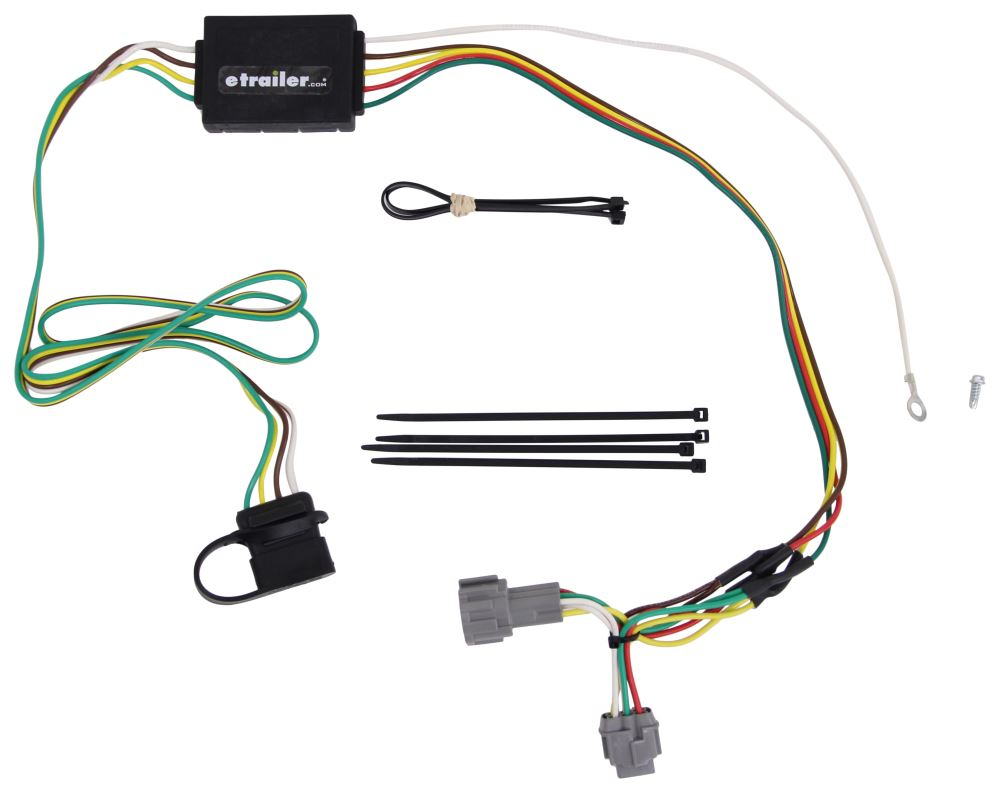 Curt T Connector Vehicle Wiring Harness With 4 Pole Flat Trailer 2013 Nissan Frontier Hitch Custom Fit C55362