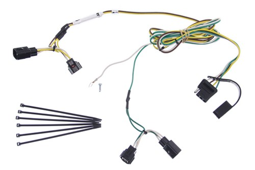 curt t-connector vehicle wiring harness with 4-pole flat trailer connector  curt custom fit vehicle wiring c55363