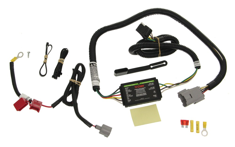 Curt T-Connector Vehicle Wiring Harness with 4-Pole Flat ... on