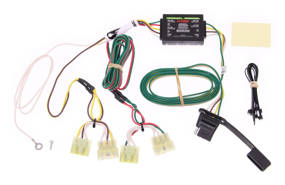 curt t-connector vehicle wiring harness with 4-pole flat trailer connector  curt custom fit vehicle wiring c55379