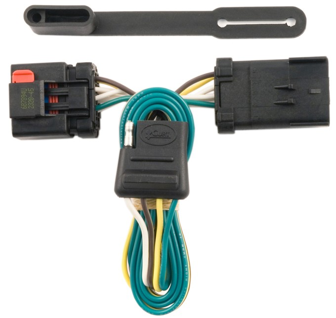 Curt T-Connector Vehicle Wiring Harness for Factory Tow Package - 4-Pole Flat Trailer Connector Custom Fit C55381