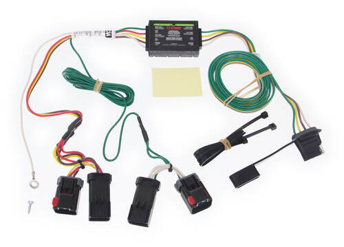 Trailer Wiring Harness For 2011 Jeep Liberty : Curt t connector vehicle wiring harness with pole flat