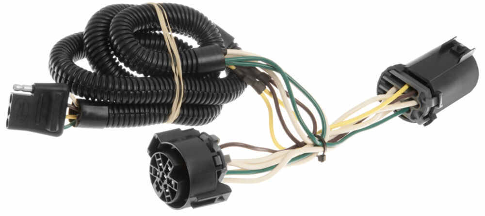 curt t connector vehicle wiring harness for factory tow package 4  curt t connector vehicle wiring harness for factory tow package 4 pole flat trailer connector curt custom fit vehicle wiring c55384