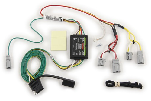 Curt t connector vehicle wiring harness with pole flat