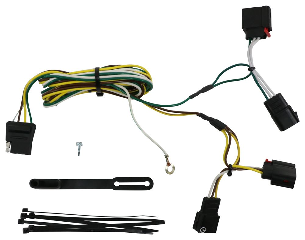 Curt T-Connector Vehicle Wiring Harness with 4-Pole Flat Trailer ... 7 way trailer wiring Etrailer.com