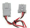 Curt T-Connector Vehicle Wiring Harness with 4-Pole Flat Trailer Connector Converter C56011