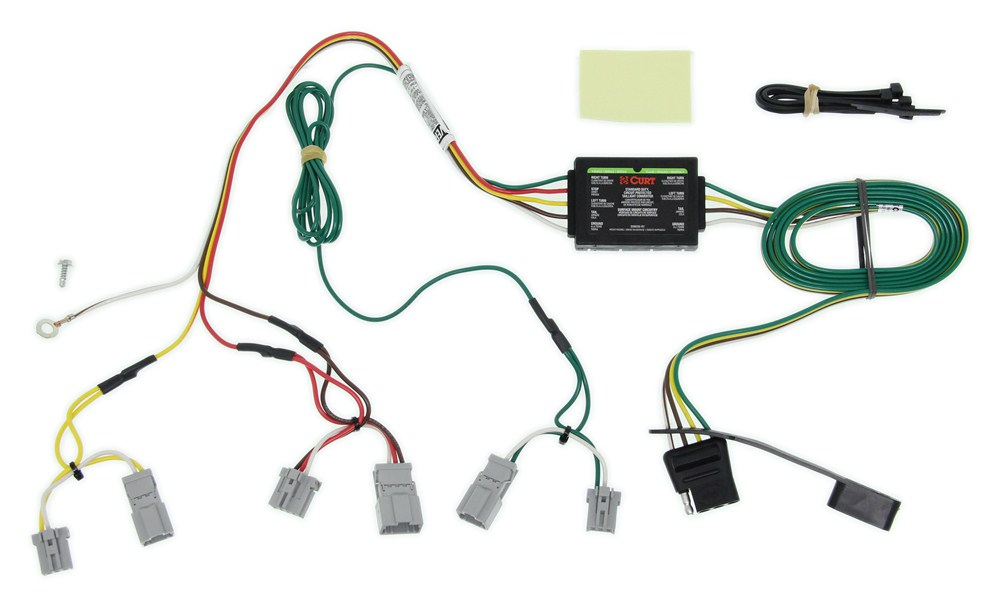 c56011_3_1000 curt t connector vehicle wiring harness with 4 pole flat trailer