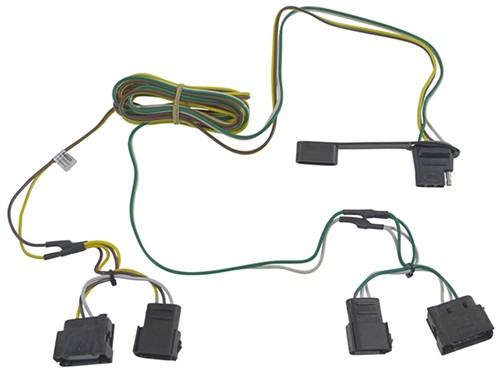 curt t connector vehicle wiring harness with 4 pole flat trailer rh etrailer com reese t-connector wiring harness t connector wiring harness 41125