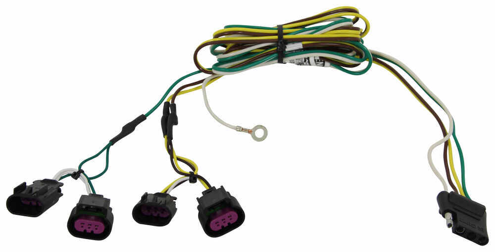 curt t connector vehicle wiring harness with 4 pole flat trailer buick enclave airbag seat wiring harness curt t connector vehicle wiring harness with 4 pole flat trailer connector curt custom fit vehicle wiring c56027