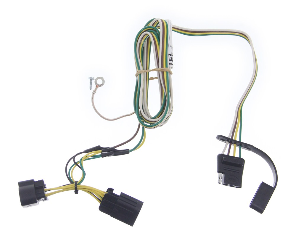 curt trailer wiring harness curt t-connector vehicle wiring harness with 4-pole flat ...