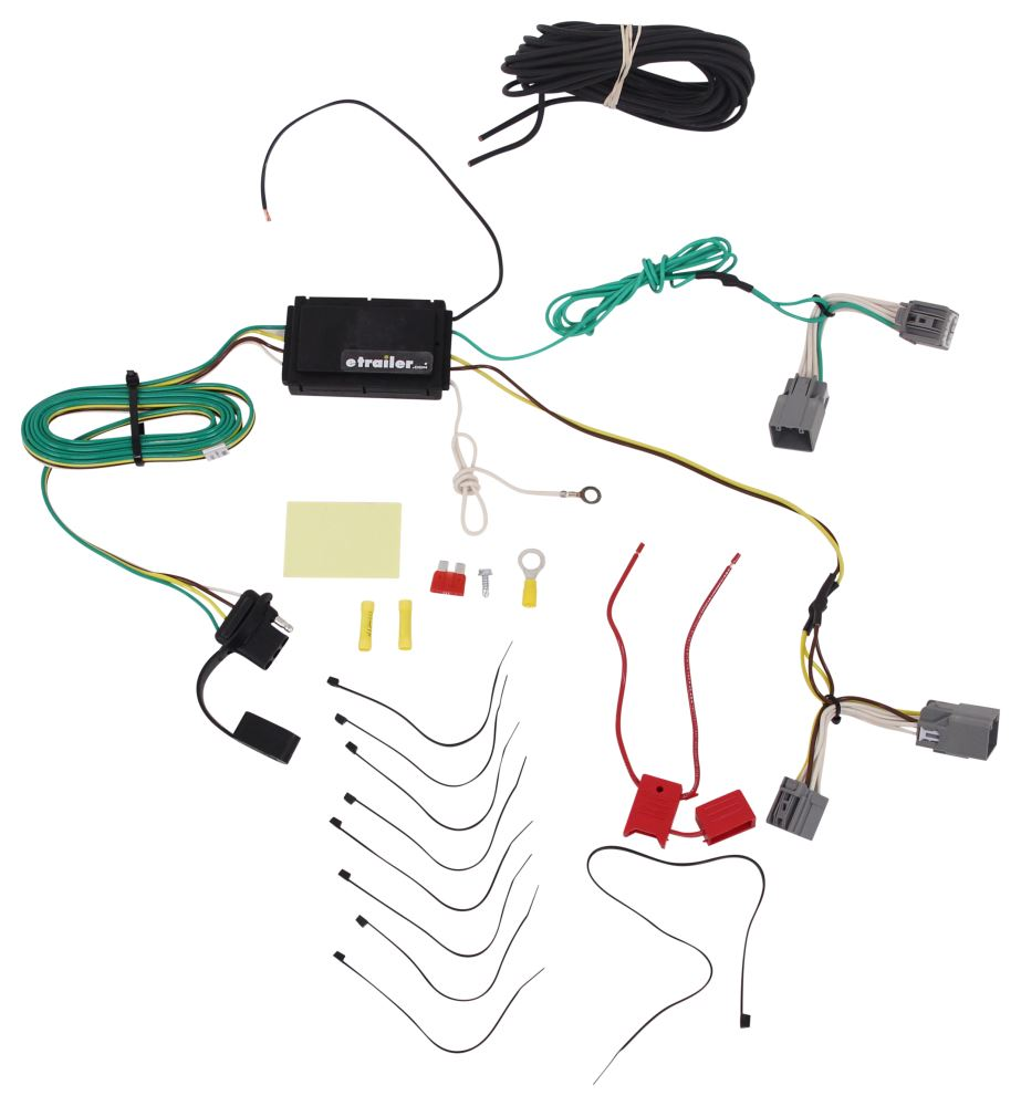 Compare Curt T Connector Vs 4 Pole Trailer Vehicle Wiring Harness With Flat Powered Converter Custom Fit C56088