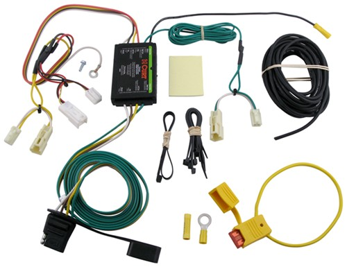 curt t connector vehicle wiring harness with 4 pole flat trailer rh etrailer com