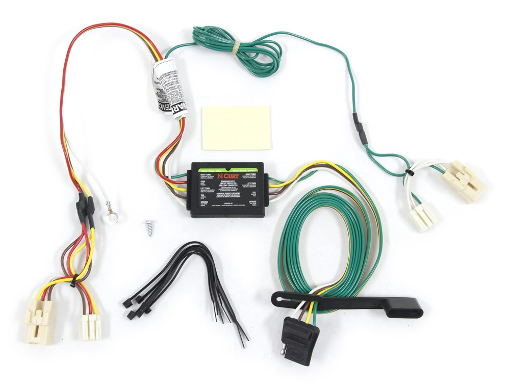 vehicle wiring harness curt t-connector vehicle wiring harness with 4-pole flat ...