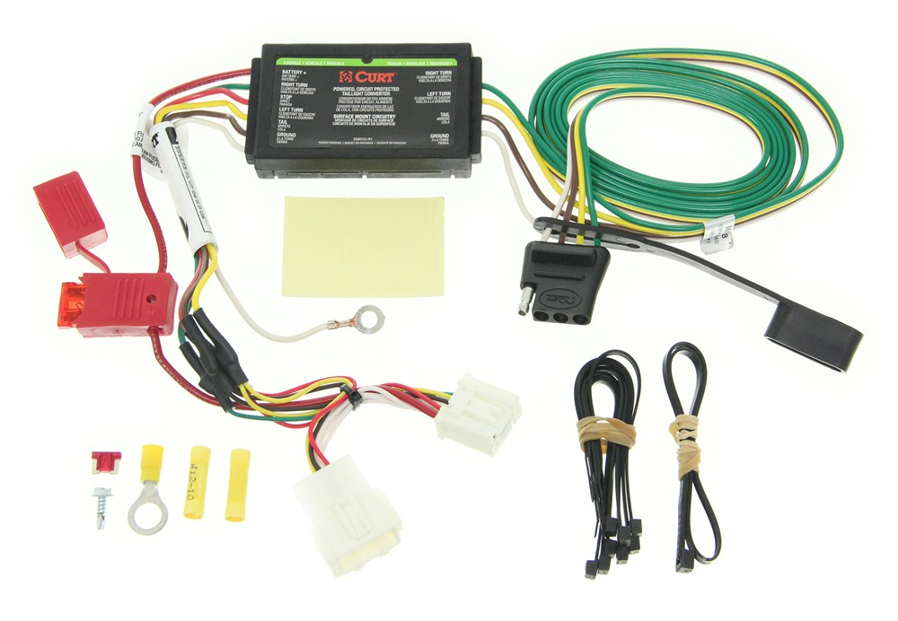Curt T Connector Vehicle Wiring Harness With 4 Pole Flat Trailer