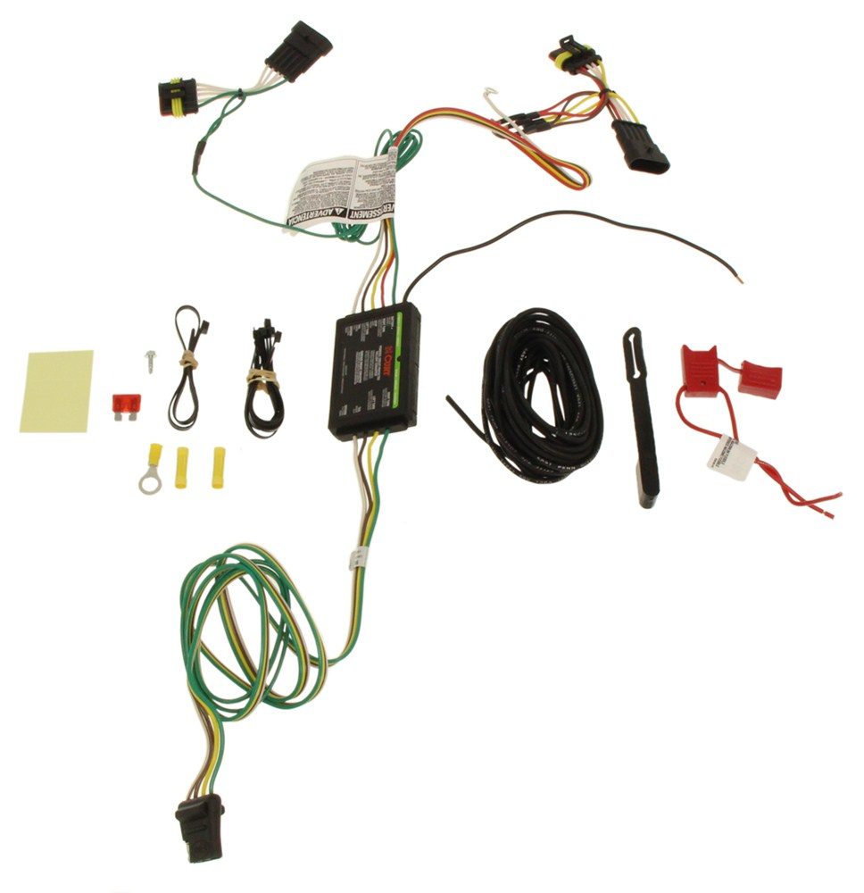 Compare Curt T Connector Vs Trailer Hitch 4 Pin Wiring Harness Custom Fit Vehicle C56174 Flat