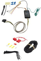 Curt Powered Tail Light Converter Kit with 4-Pole Flat Trailer Connector