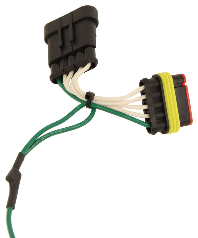 curt tconnector vehicle wiring harness with 4pole flat trailer curt t-connector vehicle wiring harness with 4-pole flat ... tow vehicle wiring harness