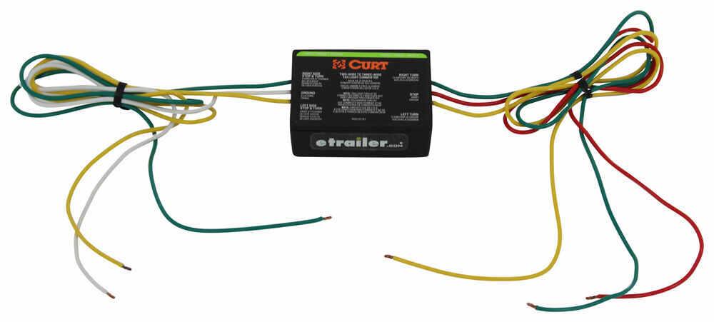 Curt 2-To-3-Wire Tail Light Converter Curt Wiring C56196