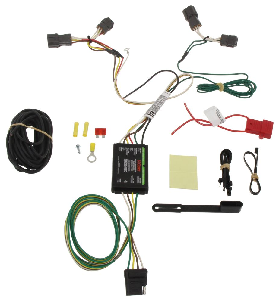 Compare Curt T Connector Vs Vehicle Wiring Harness With 4 Pole Flat Trailer C56220 Custom Fit