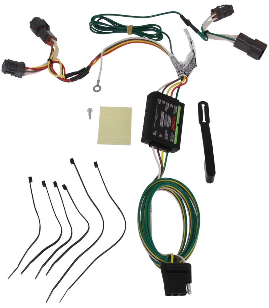 Curt T Connector Vehicle Wiring Harness With 4 Pole Flat Trailer Specific Custom Fit C56222