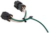Curt T-Connector Vehicle Wiring Harness with 4-Pole Flat Trailer Connector 4 Flat C56222