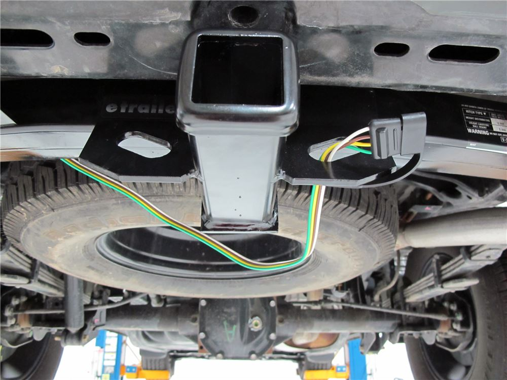curt t-connector vehicle wiring harness with 4-pole flat trailer connector  curt custom fit vehicle wiring c56225