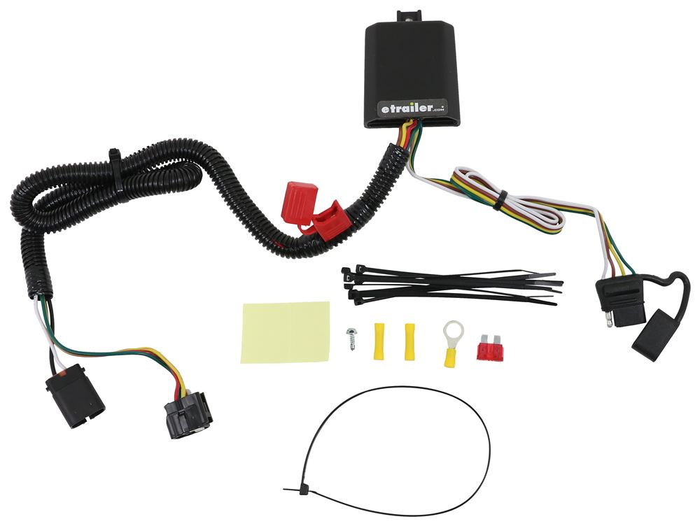 curt t-connector vehicle wiring harness for factory tow package - 4-pole  flat trailer connector curt custom fit vehicle wiring c56332