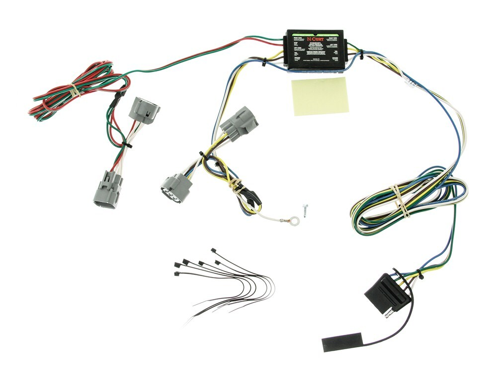 curt t connector vehicle wiring harness with 5 pole flat. Black Bedroom Furniture Sets. Home Design Ideas
