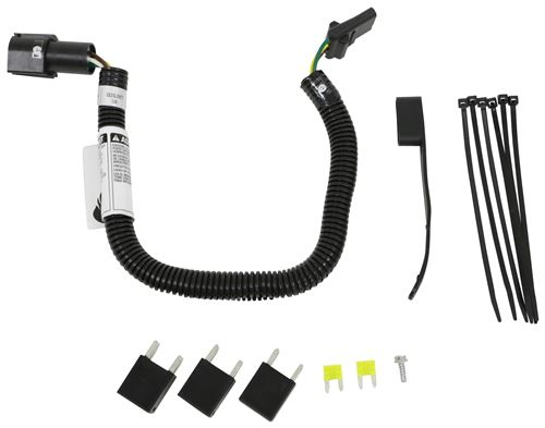 Pleasant One Vehicle Wiring Harness With 4Pole Flat Trailer Connector Tow Wiring Cloud Hisonuggs Outletorg
