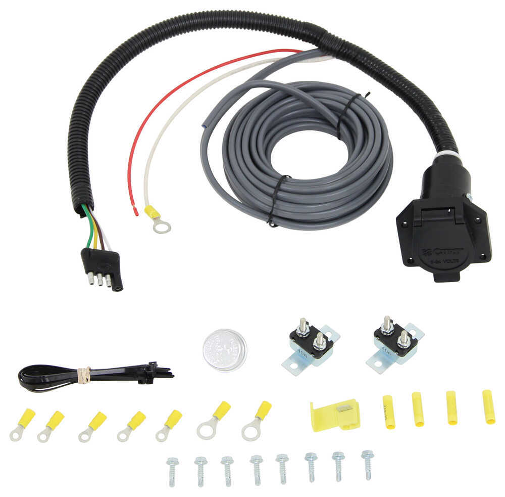 Curt Universal Installation Kit For Trailer Brake Controller 7 Way Rv Wiring Harness 10 Gauge C57186
