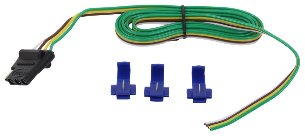 Curt Vehicle Wiring Harness with 4-Pole Flat Trailer Connector - 60 on