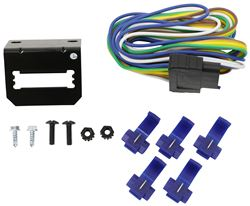 Curt 5-Pole Flat Vehicle Wiring Harness w/ Mounting Bracket