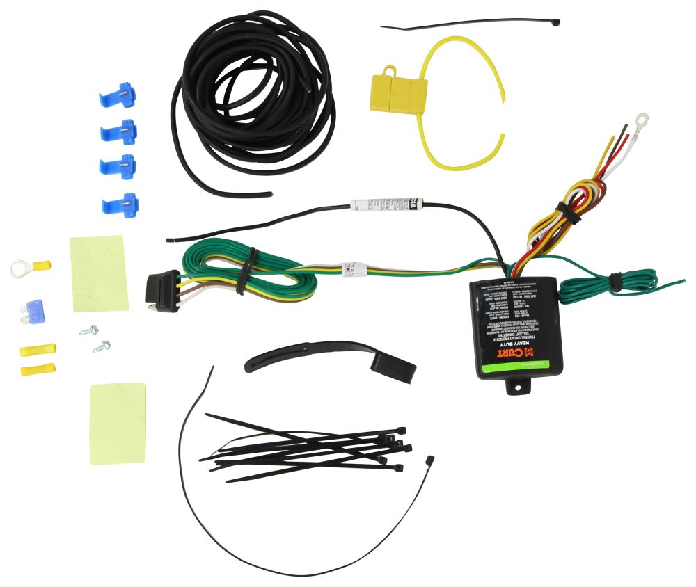 Curt Powered Tail Light Converter With 4 Pole Flat Trailer Connector 2wire Wiring Diagram C59236