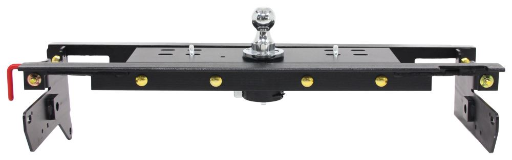 Curt Double Lock, Flip and Store Underbed Gooseneck Hitch w/ Installation Kit - 30,000 lbs Wheel Well Release C60720