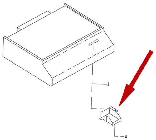 replacement wiring cover for ventline rv range hood