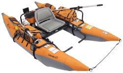 Classic Accessories 9' Pontoon Boat with Transport Wheel - The Colorado XT - Orange