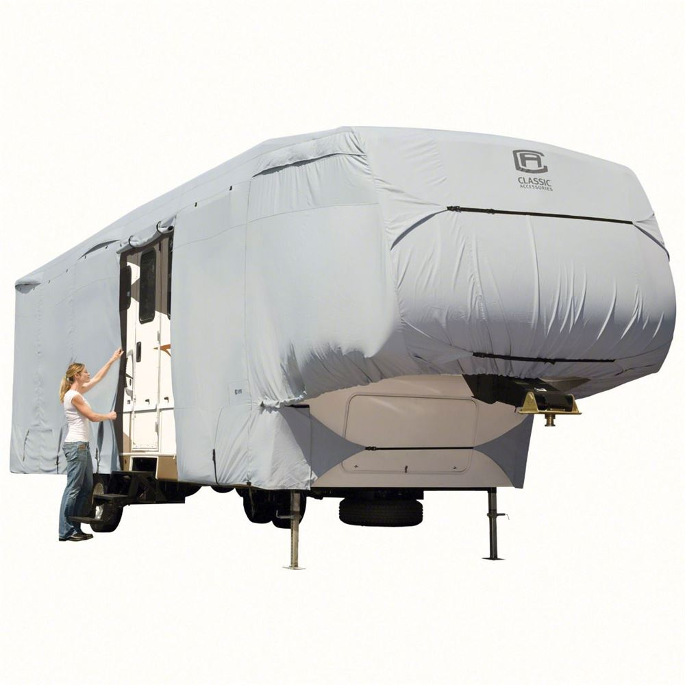 Classic Accessories Permapro Deluxe Extra Tall 5th Wheel Cover Or 2003 Jayco Fifth Wiring Diagram Toy Hauler Xt Model 7 Rv Covers Ca80 299 203101 Rt