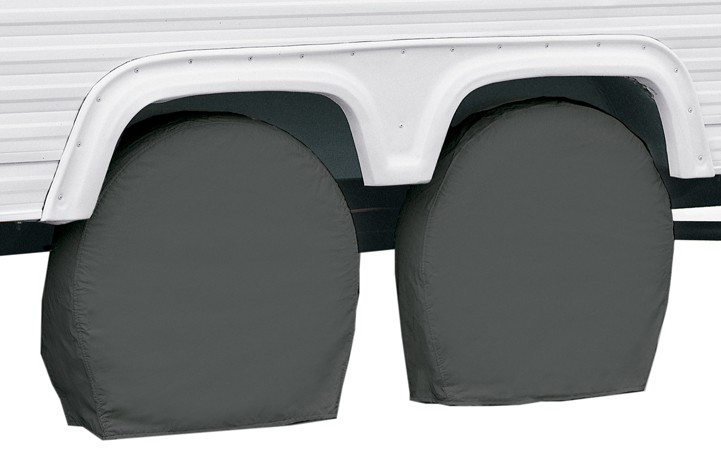 "Classic Accessories RV Wheel Covers - 26-3/4"" to 29"" - Gray 26 Inch Tires CA80083"