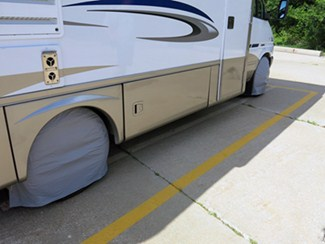RV with Covered Tires