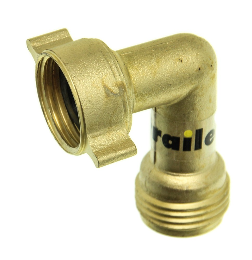 Camco water hose brass elbow degree rv plumbing