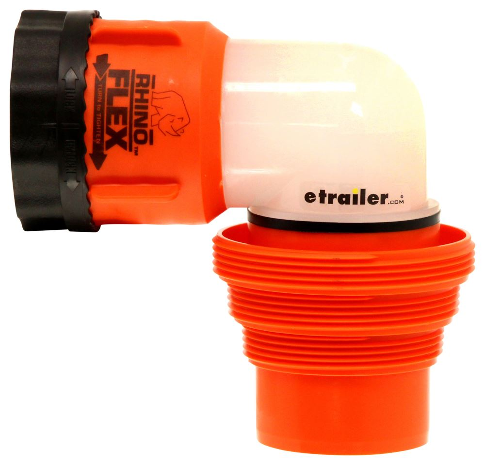 RhinoFLEX RV Sewer Hose Swivel Elbow Fitting w/ 4-in-1 Adapter Camco