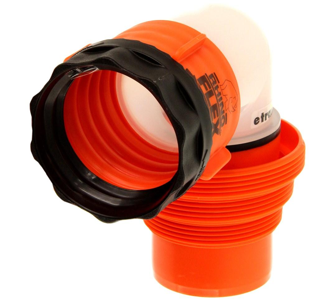 Rhinoflex rv sewer hose swivel elbow fitting w in